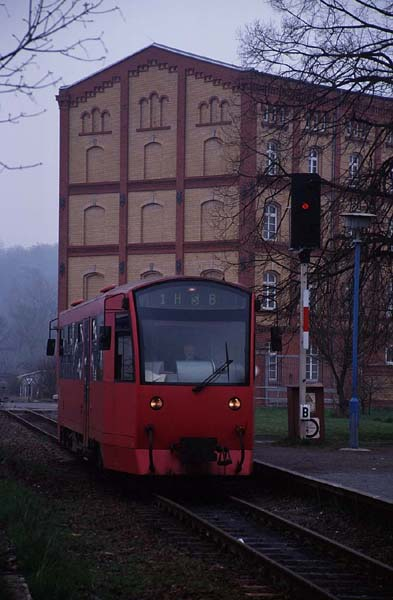 HSB-Triebwagen in Nordhausen-Altentor